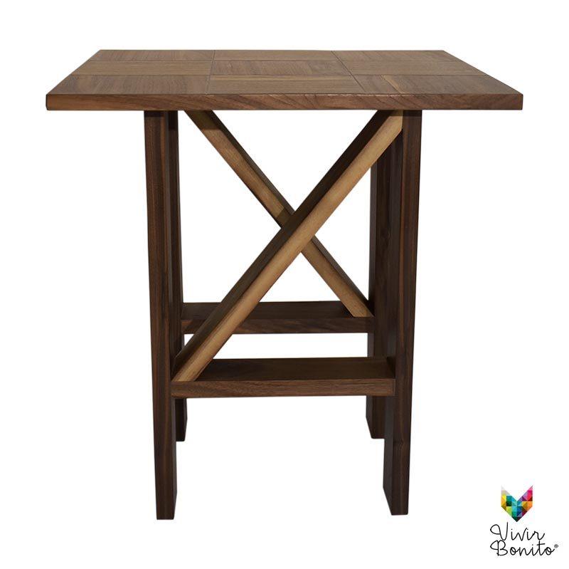 mesa de madera tonala nogal vetas 3