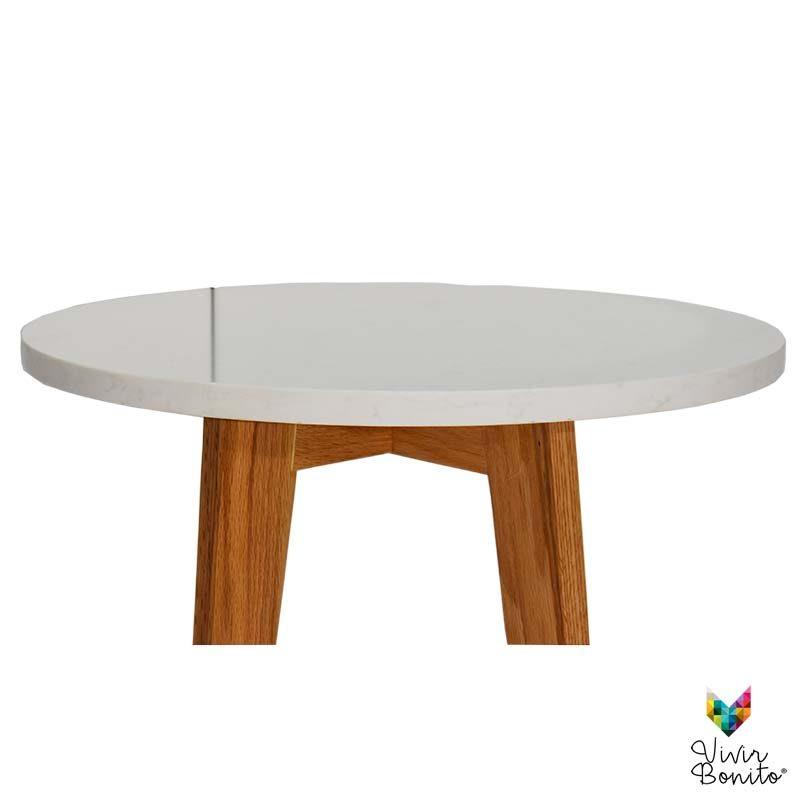 mesa lateral Rosario Cuarzo Blanco2