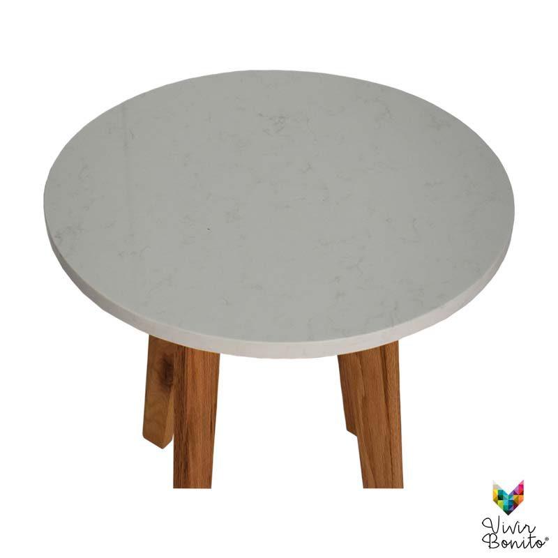mesa lateral Rosario Cuarzo Blanco3