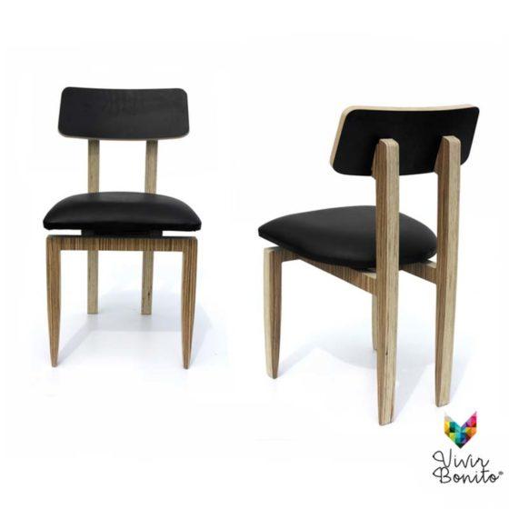 sillas-madera para restaurantes base de madera especial