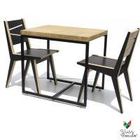 Mesa madera para restaurantes estilo industrial
