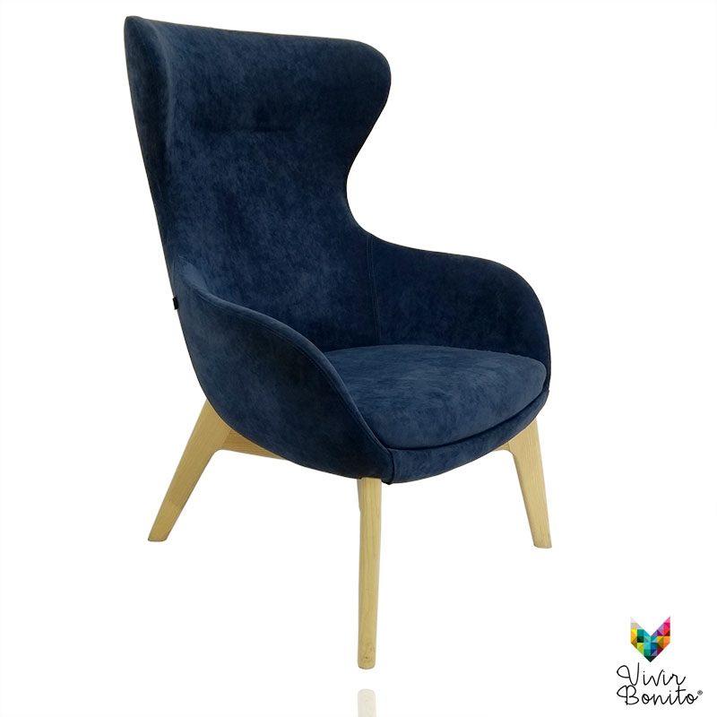 Sillon Elion Velvet azul 2