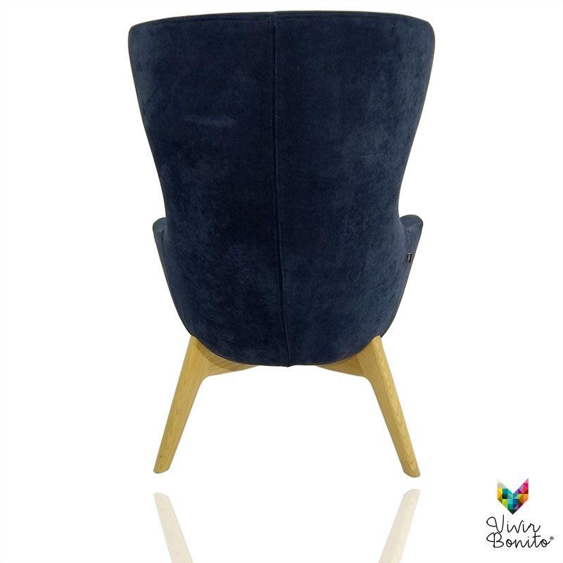 Sillon Elion Velvet azul 3