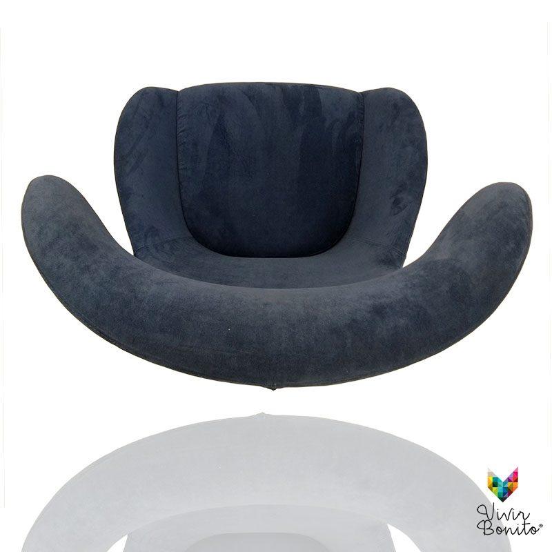 Sillon Elion Velvet azul 4