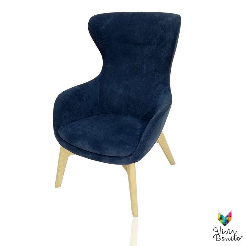 Sillon Elion Velvet azul