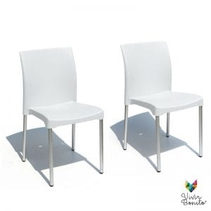 sillas aguilar blanco para exterior restaurantes cafeterias vivir bonito