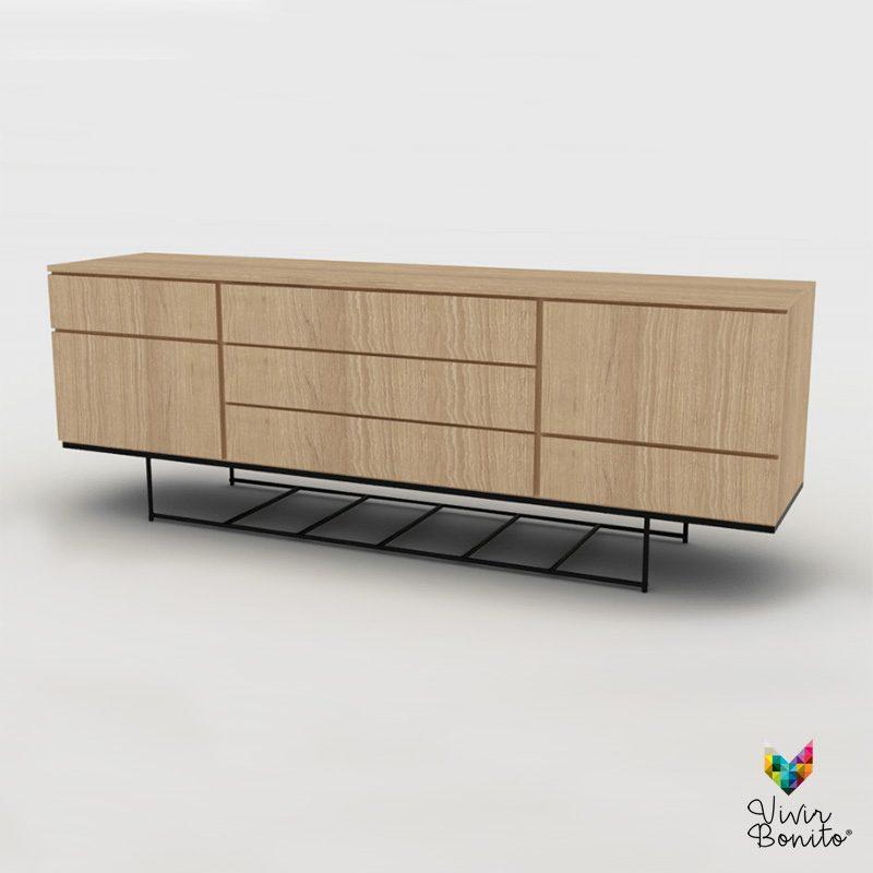 Mueble cajonera madera 1