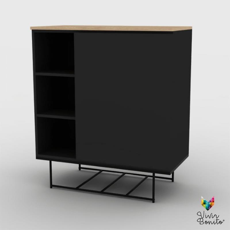 Mueble bar leek negro vivir bonito sillas y salas de dise o - Muebles bar diseno ...