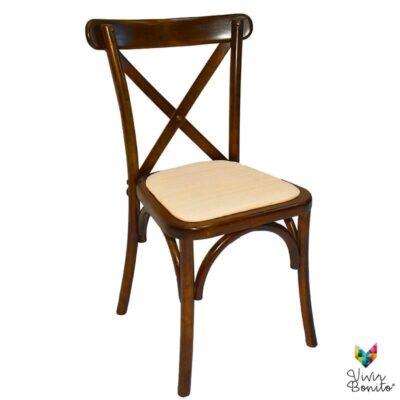 sillas de madera crossback