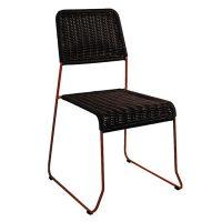 silla tejido chocolate