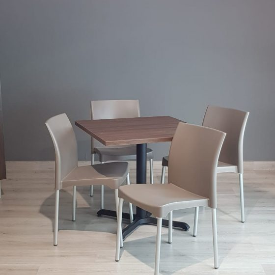 sillas para restaurantes de plastico aguilar gris apilables economicas