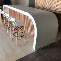 barras de corian para restaurantes cafeterias comedores industriales