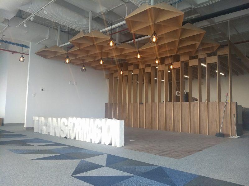 plafon techo enchapado diseñador industrial