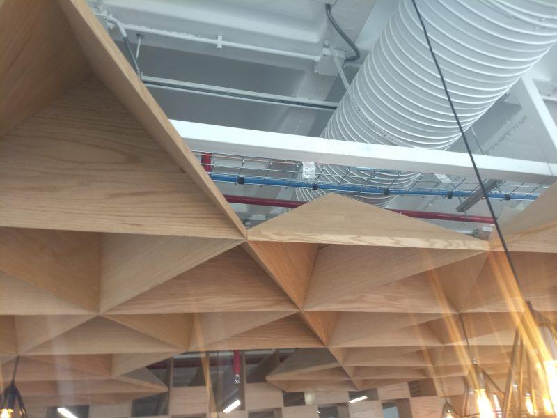 plafon techo enchapado encino diseño
