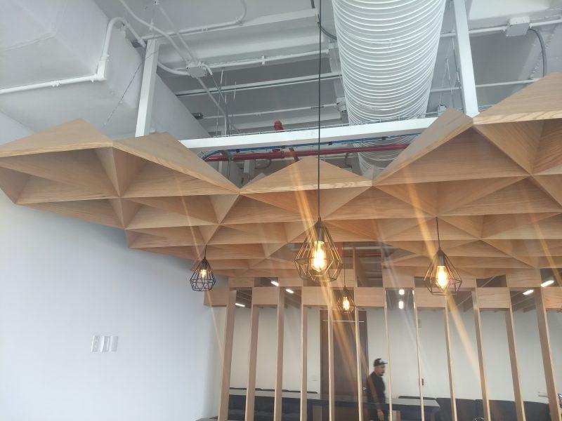 plafon techo enchapado natural mdf diseñador