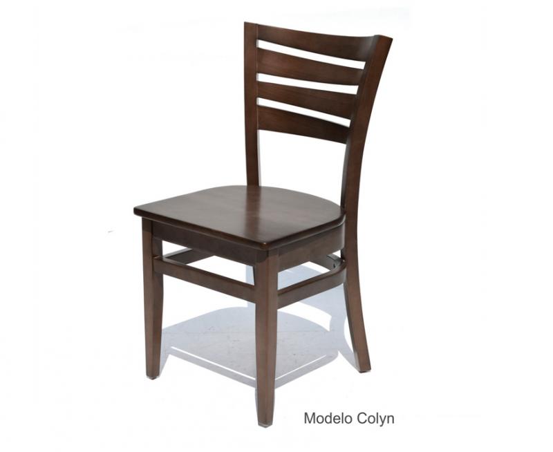 sillas para restaruantes de madera de pino haya encino color chocolate para cafeterias y bares
