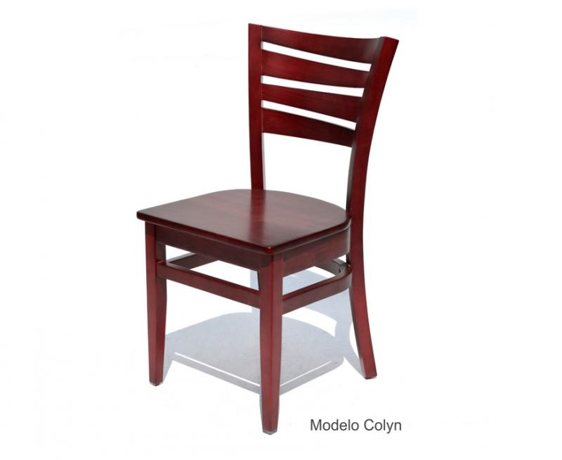 sillas para restaurantes de madera a elegir haya pino encino personalizada para cafeterias y bares