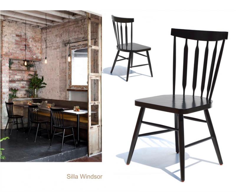 sillas para restaurantes de madera de pino haya encino natural carpinteria interiorismo resistente para cafeterias y bar