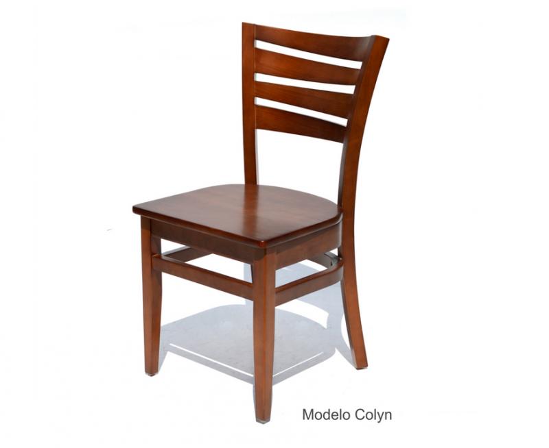 sillas para restaurantes de madera pino haya encino colores y diseños personalizados para cafeterias y bares