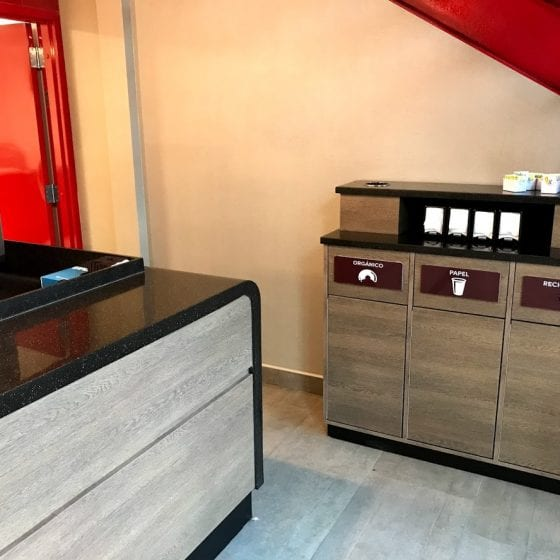 termoformado corian mostradores cafeterias
