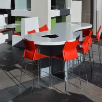 mesas para comedores empresa barra usos multiples superficie solida sobre diseño