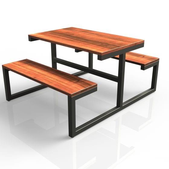 mesas para restaurantes tipo picnic comedores empresas industriales pintura gris madera