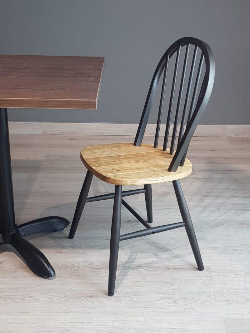 sillas para restaurantes cafeterias monterrey queretaro slp asiento madera estructuras en metal pintura gris