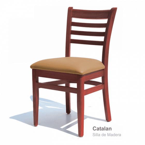 sillas para restaurantes de madera de pino color nogal estilo clasico viniles a escoger