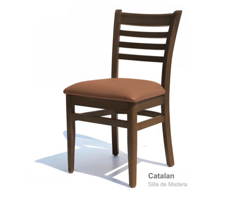sillas para restaurantes de madera de pino color nogal vinyl uso rudo