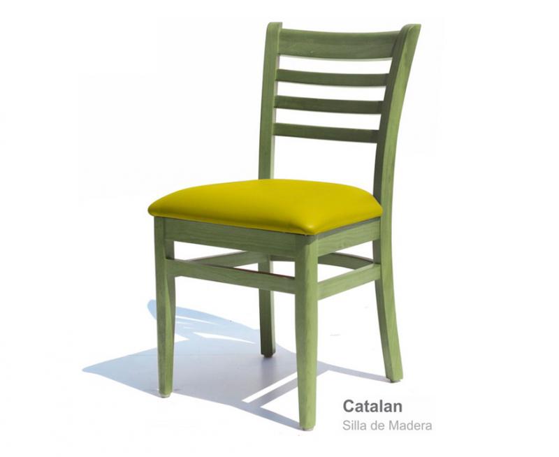 sillas para restaurantes de madera de pino estilo vintage vinyl a escoger