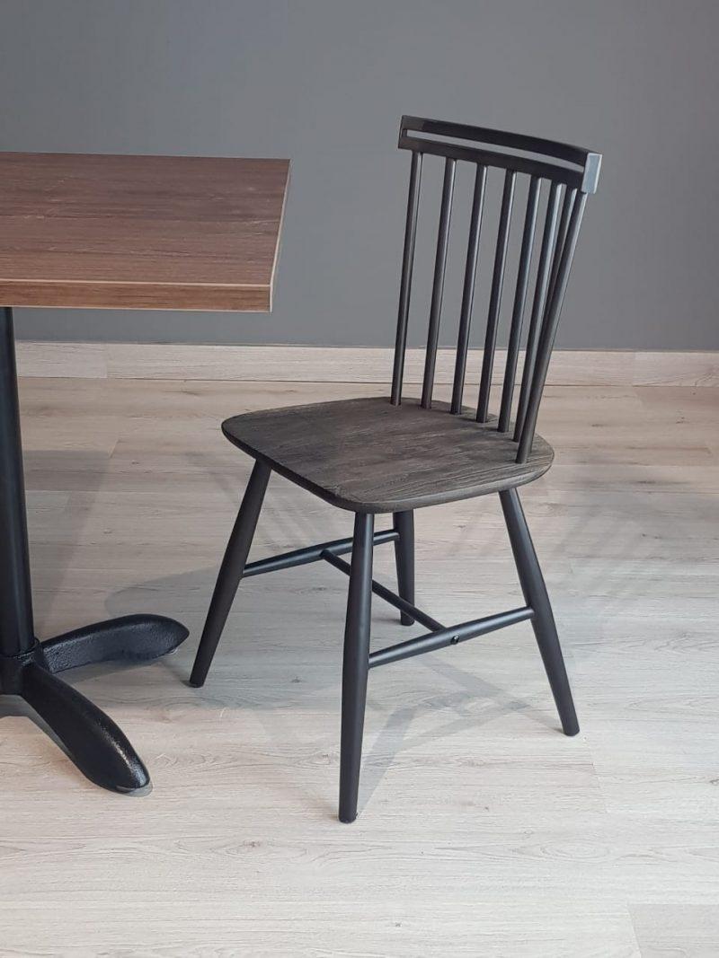 sillas para restaurantes de madera estructura metal gris en monterrey queretaro slp estructura metalica uso rudo