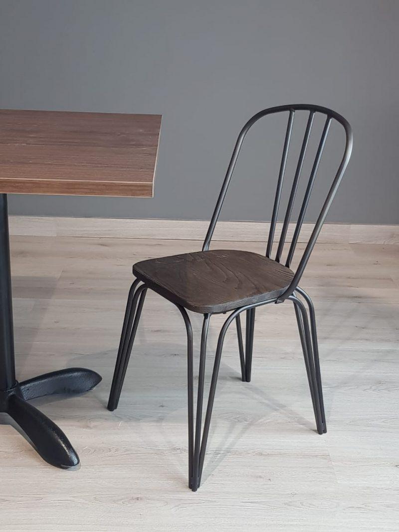 sillas para restaurantes de madera monterrey queretaro estructura metal pintura electrostatica