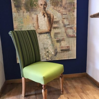 sillas para restaurantes cafeterias hoteles bares color pistache tela easy dekor patas torneadas acabado nogal