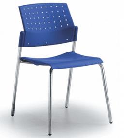 silla areta azul