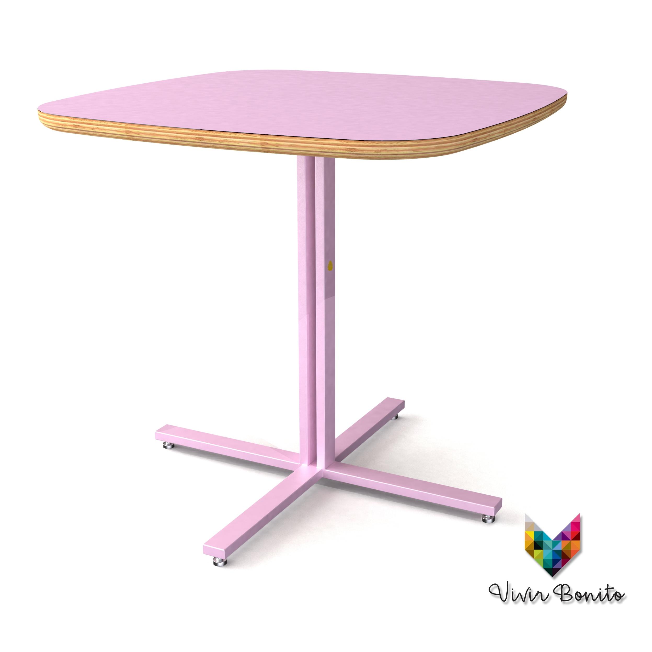 mesas de madera laminado plástico
