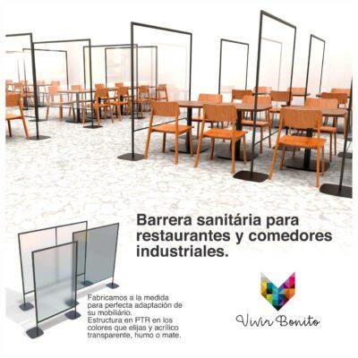 mobiliario para comedores industriales acrílicos protectores
