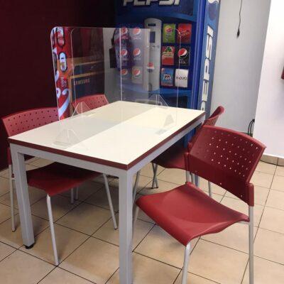 mesas para empresas mampara sanitaria