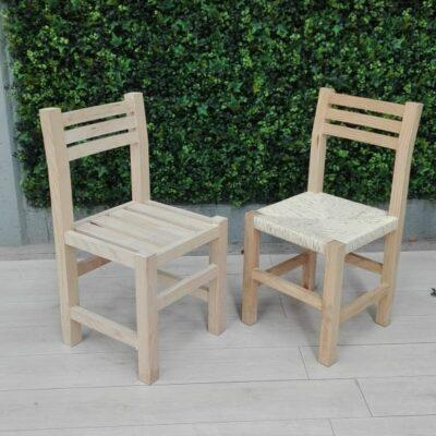 Sillas de madera artesanales