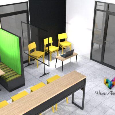 booths y mesas para restaurantes distanciamiento fisico